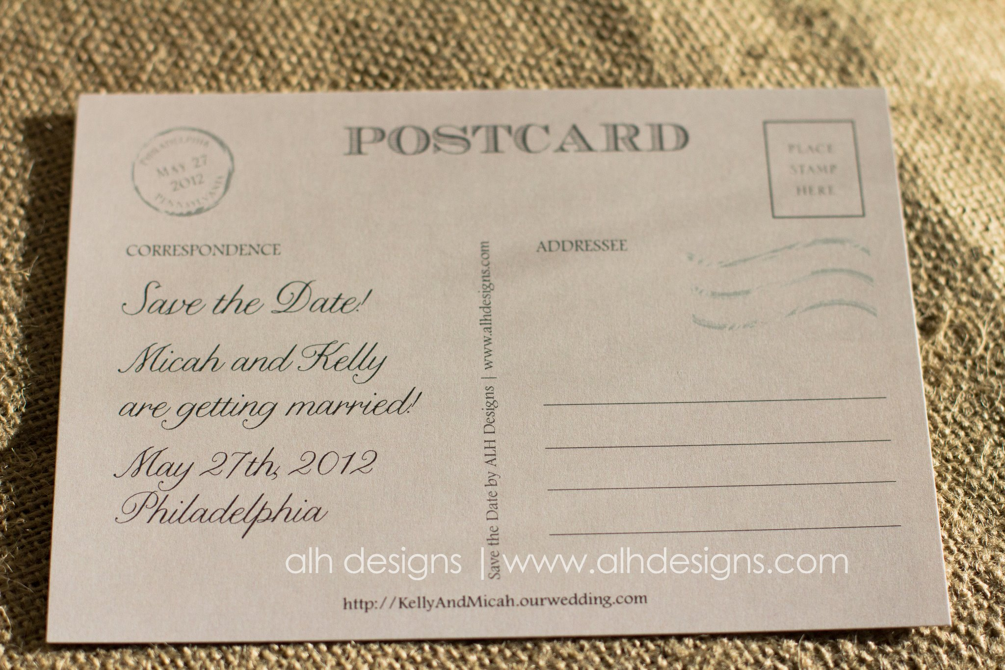 Kelly Micahs Save the Date Postcard – Postcard Wedding Save the Dates