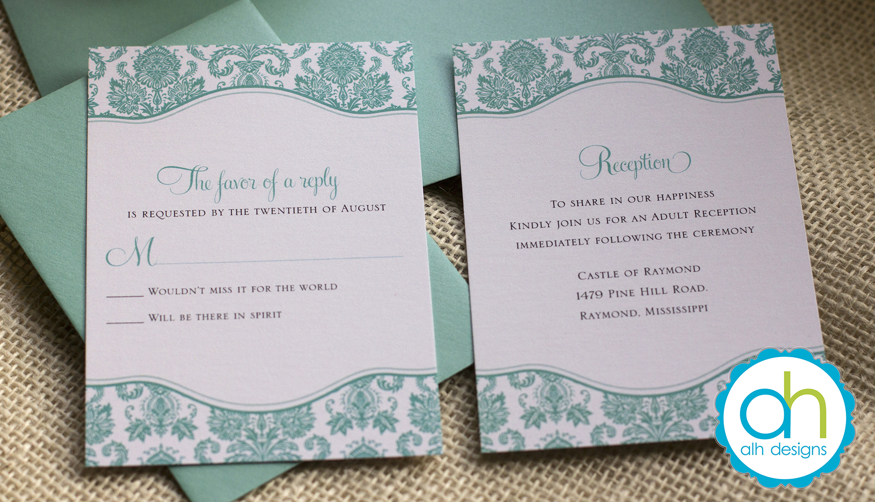 Jasmine Fred S Tiffany Blue Wedding Invitation Suite April