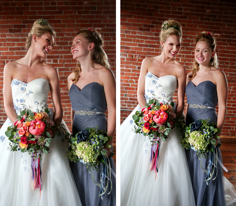 Rustic Chic Distillery Styled Shoot   Denim + Ribbon Bouquets