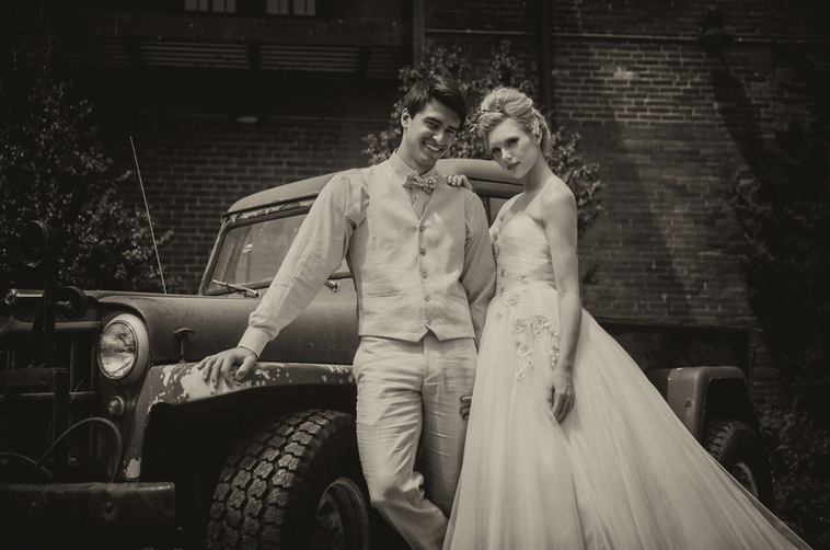 Rustic Chic Distillery Styled Shoot   Couple's Portrait