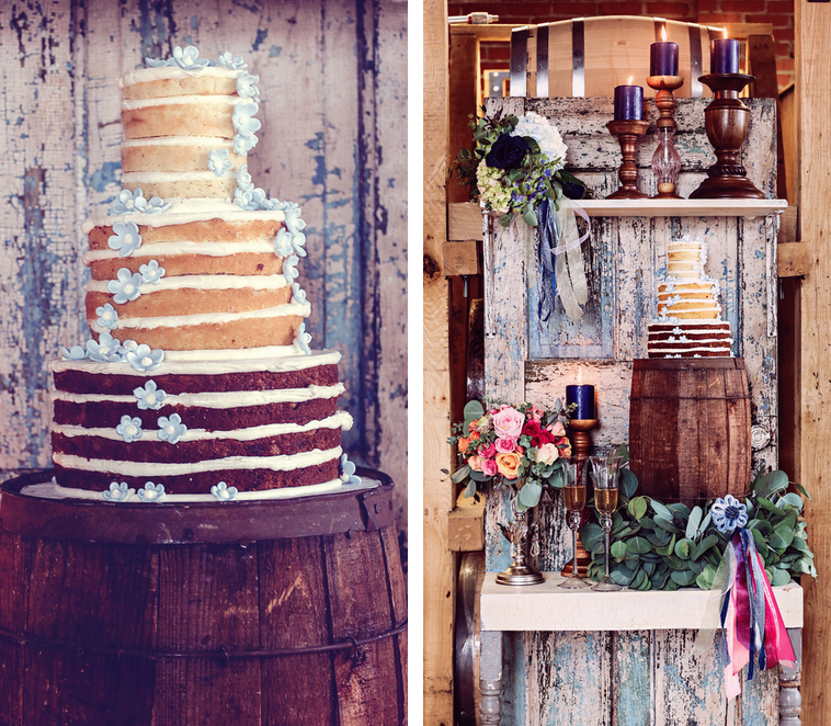 Rustic Chic Distillery Styled Shoot   Naked Cake