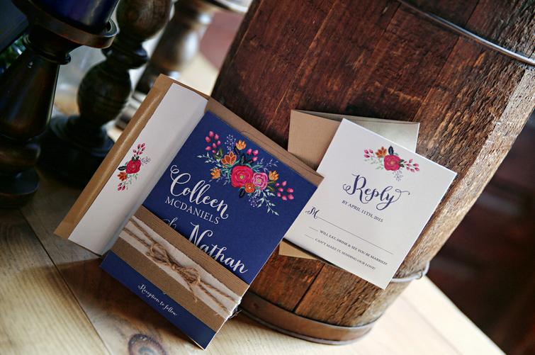 Rustic Chic Distillery Wedding Invitations by April Lynn Designs