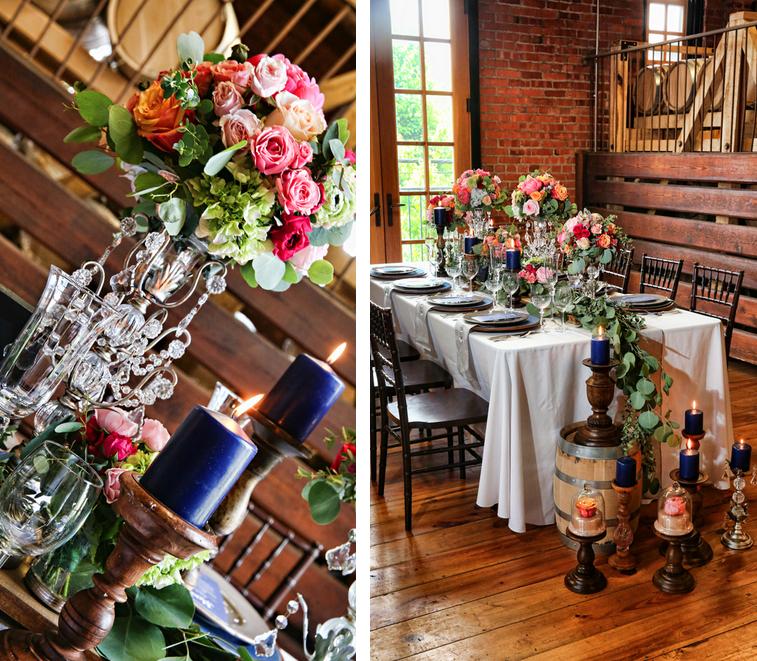 Rustic Chic Distillery Styled Shoot Floral Arrangements by Kristin Rockhill Floral & Event Arrangements