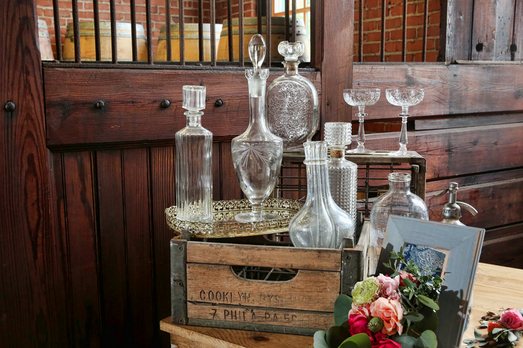 Rustic Chic Distillery Styled Shoot Decanters