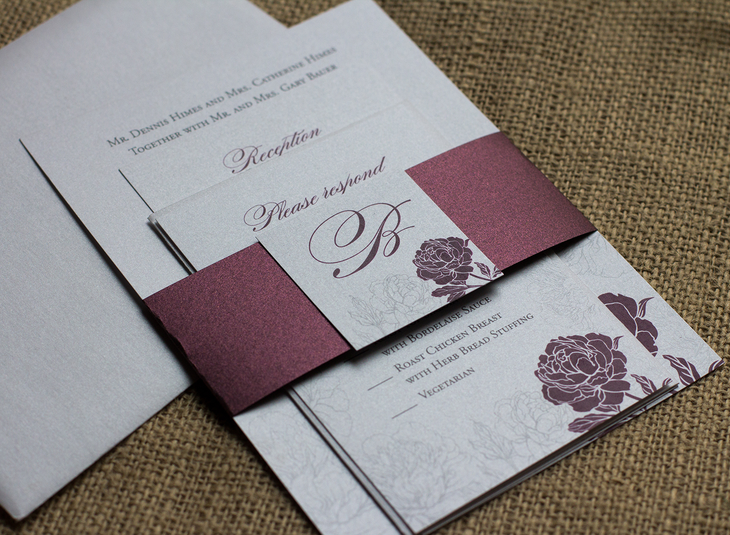 Steph dave april lynn designs custom stationery for Lavender avenue wedding invitations