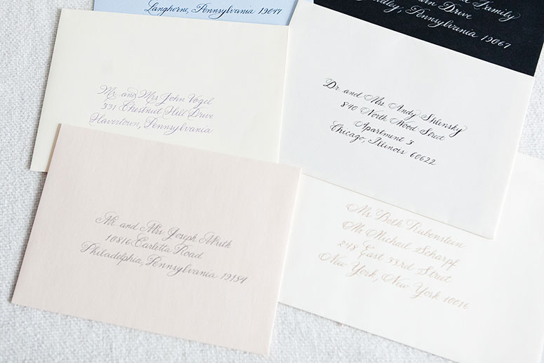 Calligraphy On Philadelphia Wedding Stationery