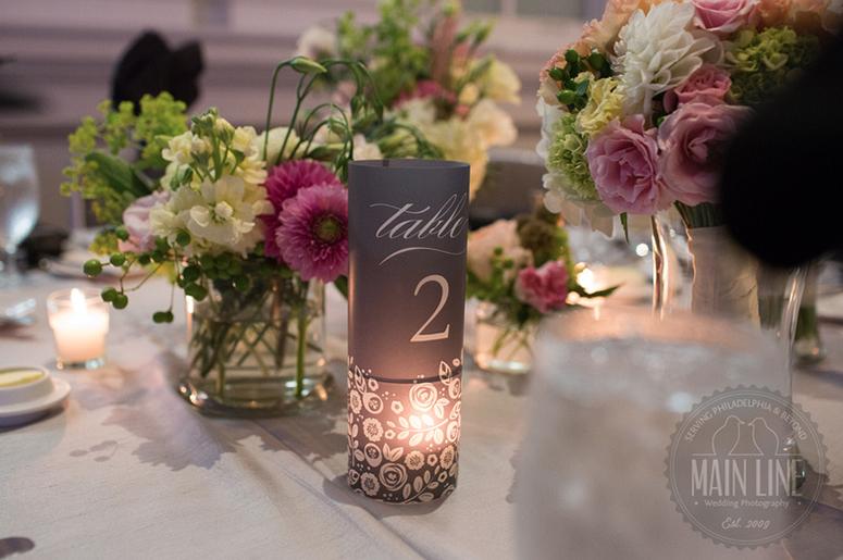 Philadelphia Custom Wedding Stationery | Table Number Luminaries