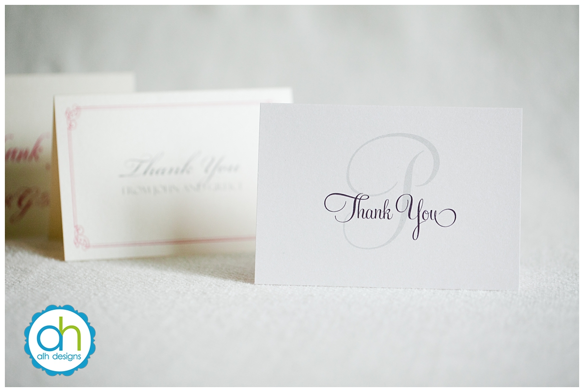 thank you cards, alh designs, philadelphia, pennsylvania