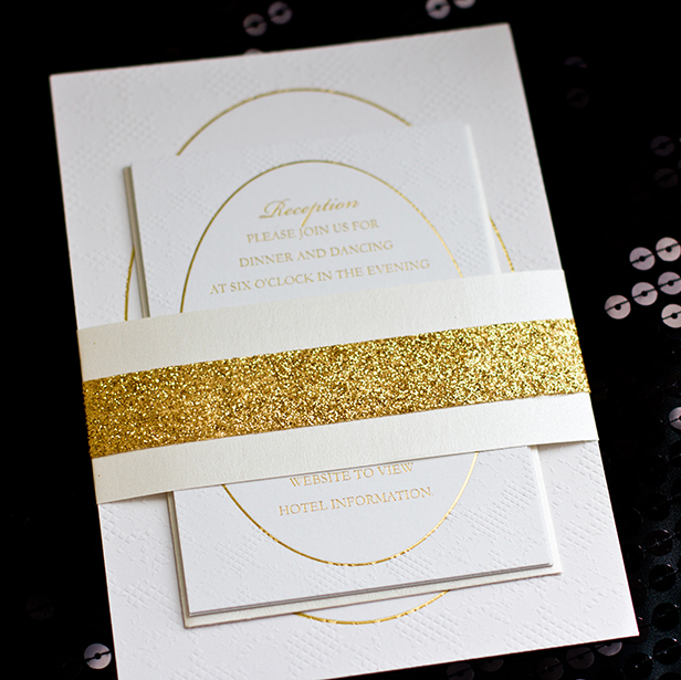 Philadelphia Wedding Invitations | Gold Foil Wedding Invitation