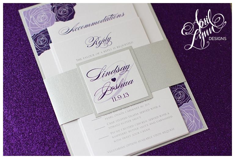 Philadelphia Custom Wedding Invitations | Lindsay + Joshu0027s Purple Rose Wedding  Invitations By April Lynn Designs