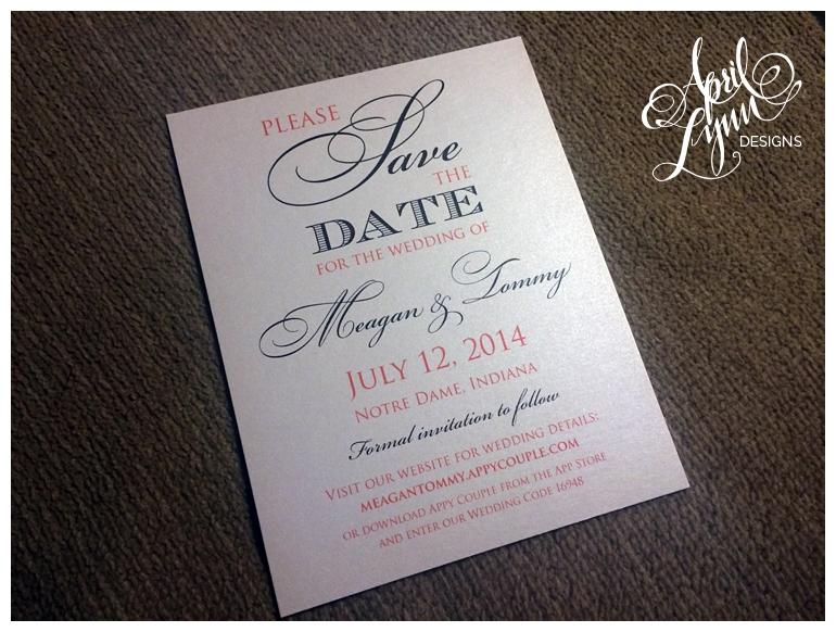 Philadelphia Custom Wedding Stationery | Engagement Photo Save The Date