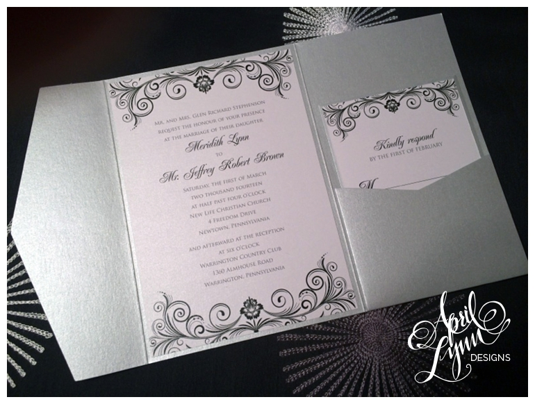 Philadelphia Custom Wedding Invitations