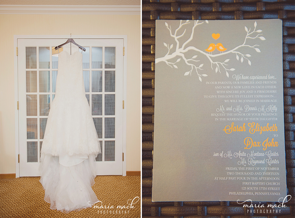 Philadelphia Custom Wedding Stationery | Dress + Lovebirds Wedding Invitation