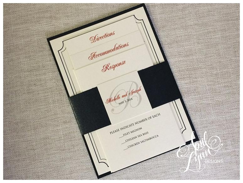 Custom Wedding Invitations | Red + Black Wedding Invitation by April Lynn Designs