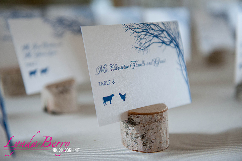 Philadelphia Custom Wedding Stationery | Snowy Winter Wedding Escort Cards by April Lynn Designs