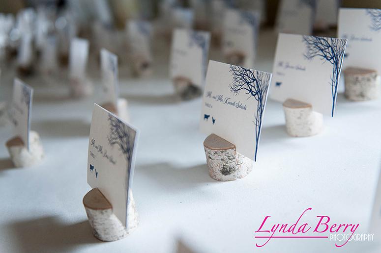 Philadelphia Custom Wedding Stationery | Snowy Winter Wedding Escort Cards by April Lynn Designs