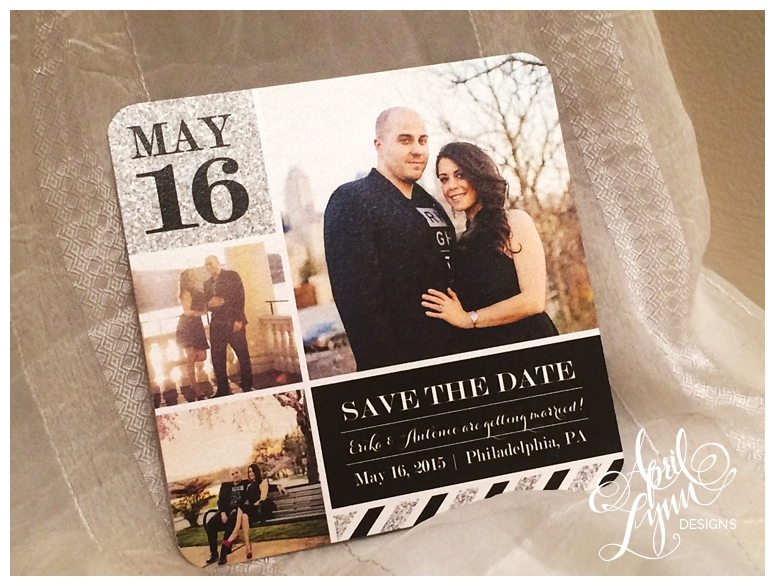 Custom Wedding Stationery | Engagement Photo Save the Date by April Lynn Designs