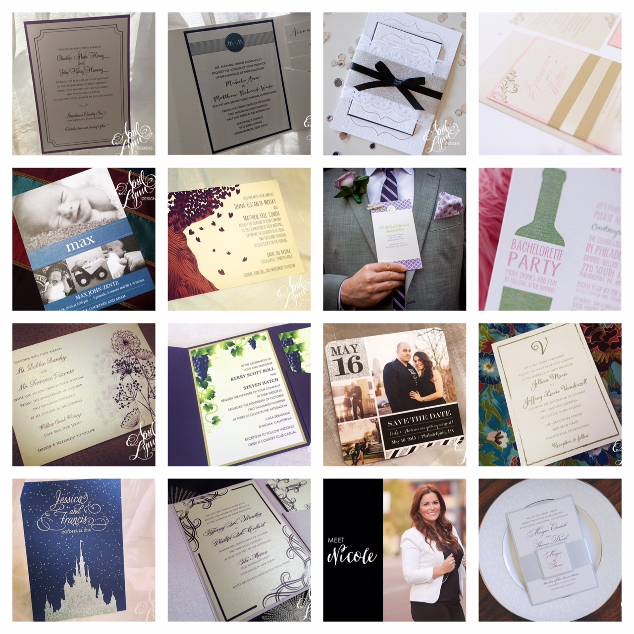 Custom Wedding Stationery Designer | Instamonth October