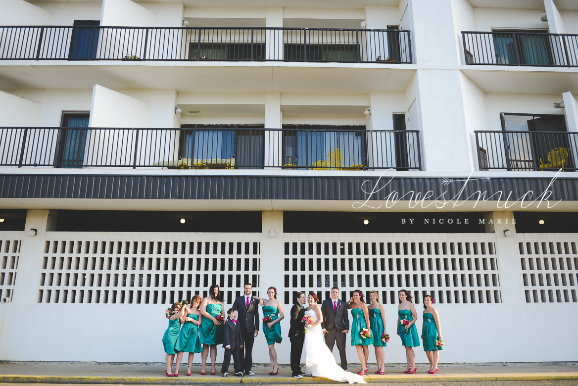 Lovestruck by Nicole Marie Rehoboth Beach Bridal Party Portrait