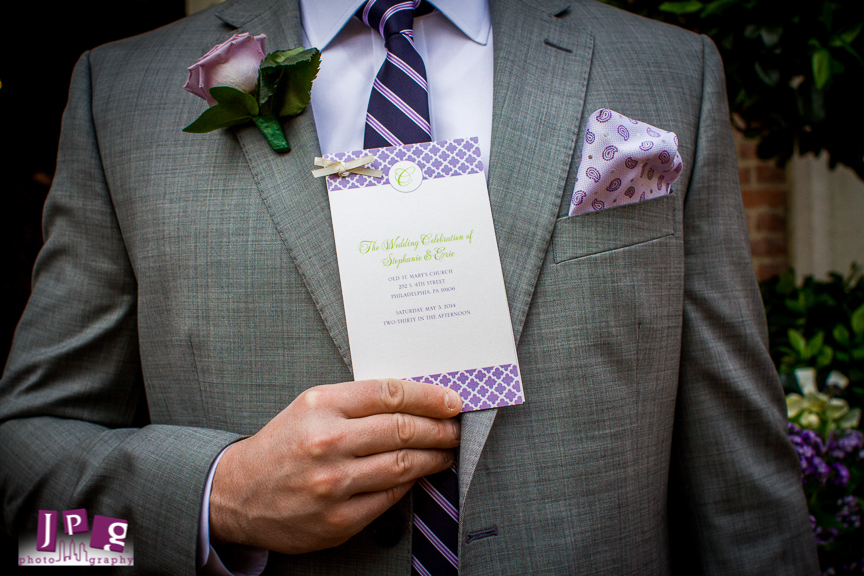 Philadelphia Custom Wedding Stationery | Hotel Monaco Wedding Programs by April Lynn Designs