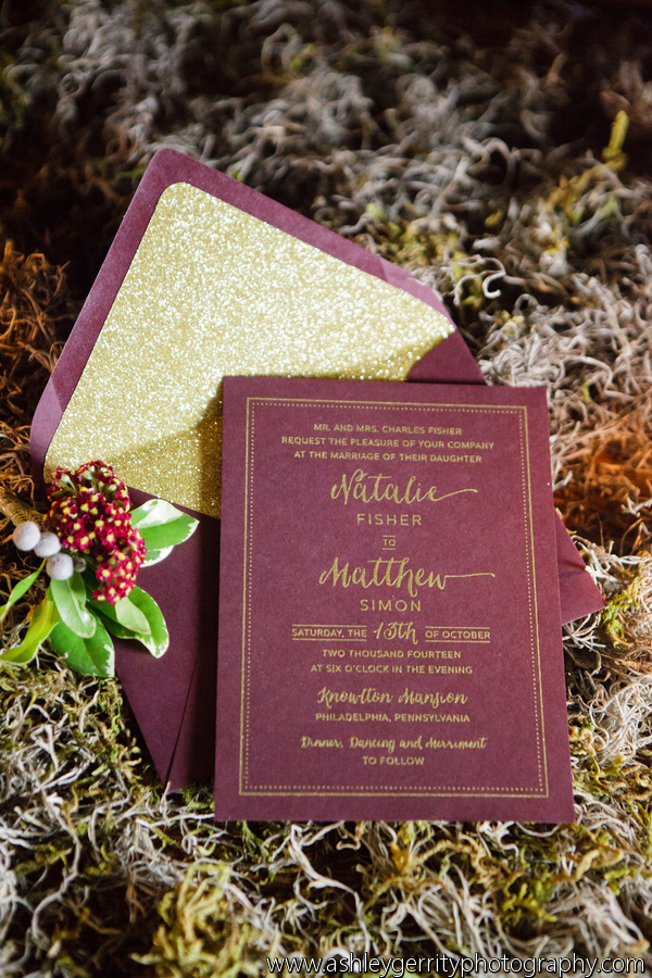 She Walks In Beauty Styled Shoot Wedding Invitations by April Lynn Designs