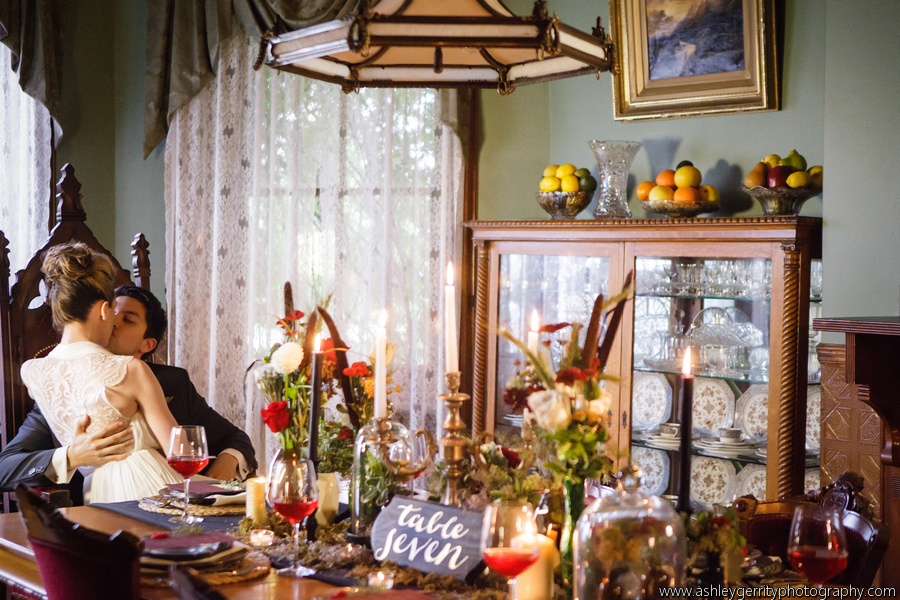 She Walks In Beauty Styled Shoot Table at Knowlton Mansion