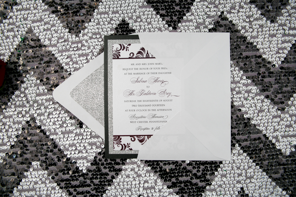 Philadelphia Stationery Design | Gothic Chic Wedding Invitations in Munaluchi Magazine