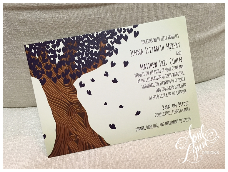 Custom Wedding Invitations | Rustic Dark Purple Invitations by April Lynn Designs