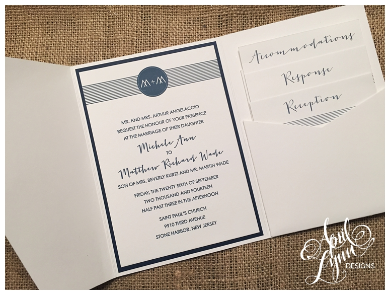 Philadelphia Custom Wedding Invitations | Rustic Chic Wedding Invitations  By April Lynn Designs