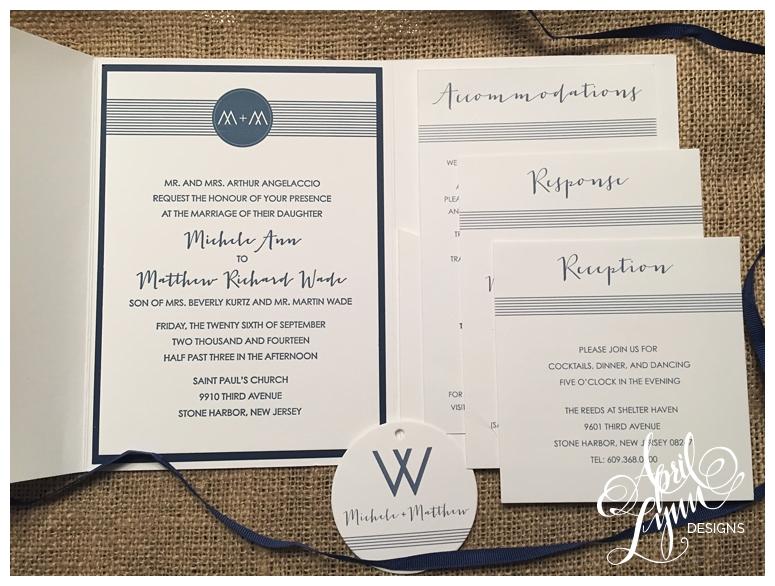 Philadelphia Custom Wedding Invitations | Rustic Chic Wedding Invitations by April Lynn Designs
