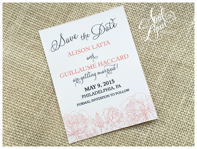 Strawberry Ice Save the Date by April Lynn Designs