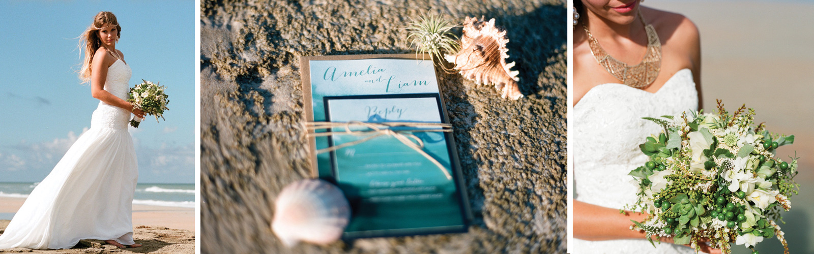 Rustic Ombré Watercolor Destination Wedding Invitation Florida