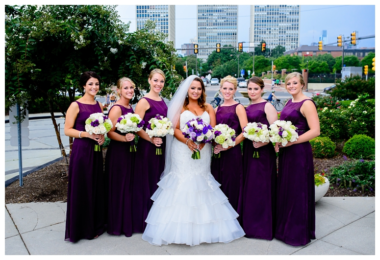 Philadelphia Wedding Bridesmaids' Portrait