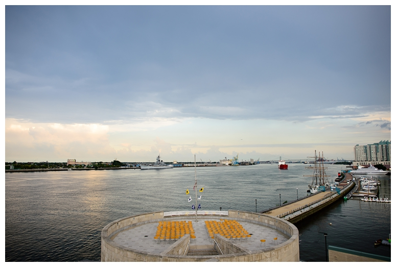 Philadelphia Seaport Museum Wedding Waterfront View