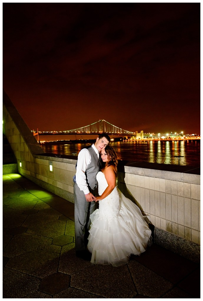 Philadelphia Seaport Museum Wedding Bridge Couple's Portrait