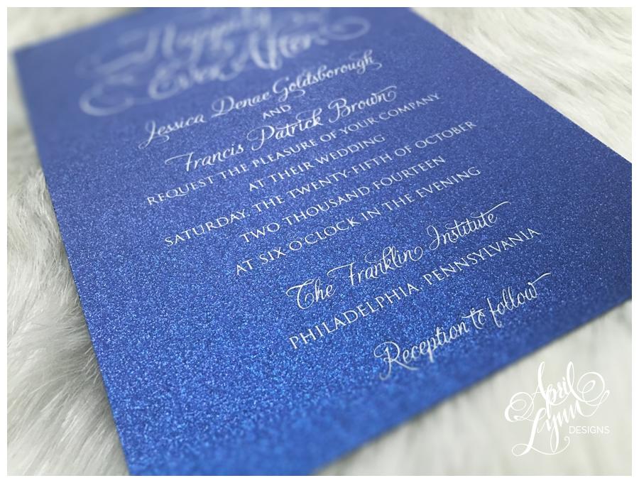 Jessica + Francis' Wedding Invitation Suite | April Lynn ...