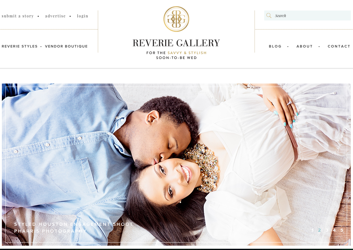 Reverie Gallery Philadelphia Custom Wedding Stationery by April Lynn Designs