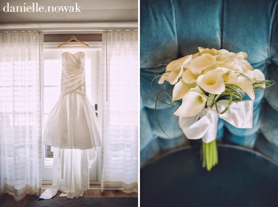 Rustic Beach Wedding   Mermaid Wedding Dress + Calla Lily Bouquet
