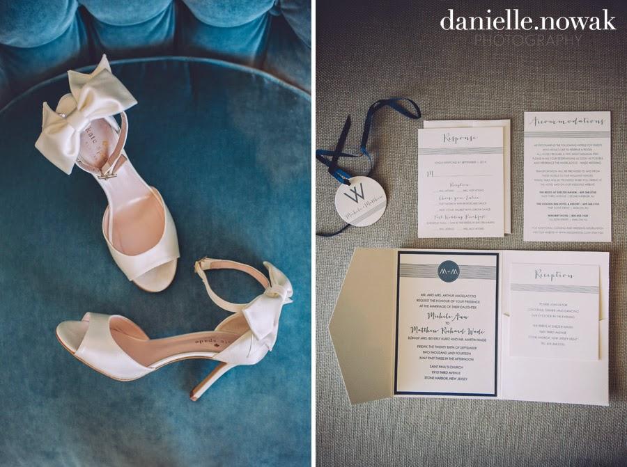 Rustic Beach Wedding   Antique Blue + Pearl White Pocketfold Wedding Invitation by April Lynn Designs