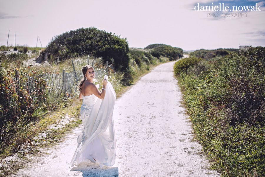 Rustic Beach Wedding Bridal Portrait