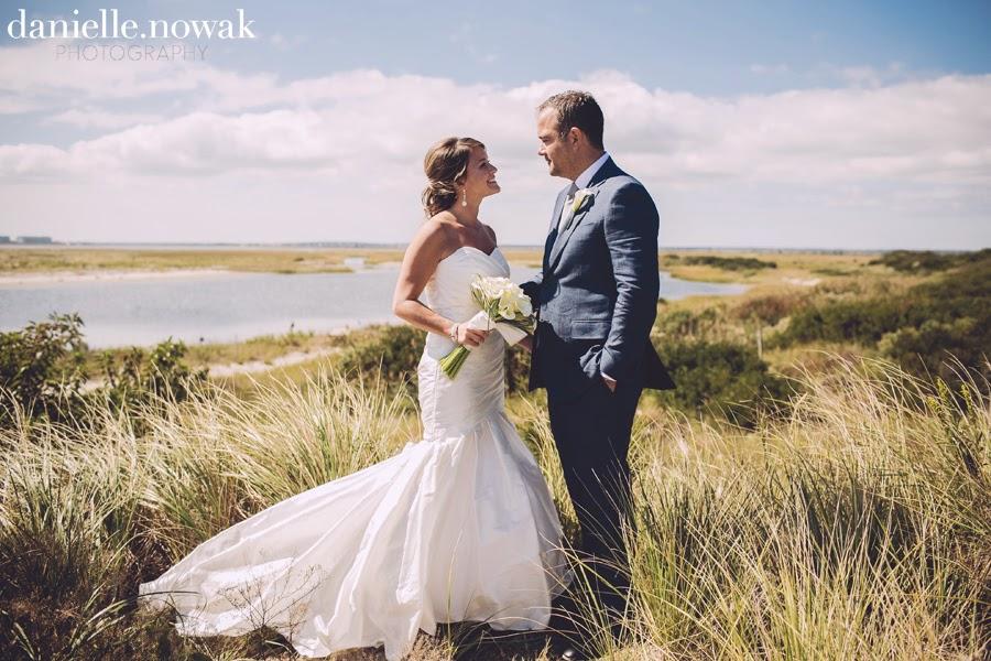 Rustic Beach Wedding Couple's Portrait