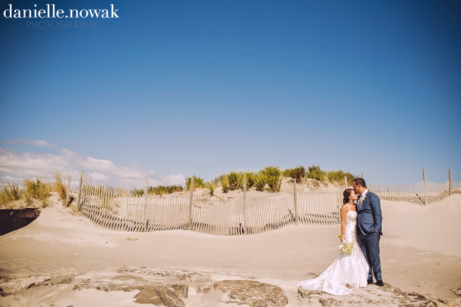 Rustic Beach Wedding Couple's Portrait