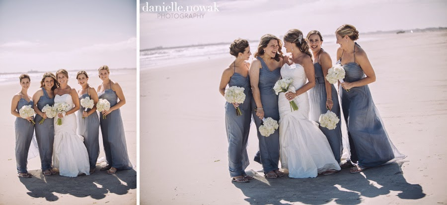 Rustic Beach Wedding Bridal Party Portraits