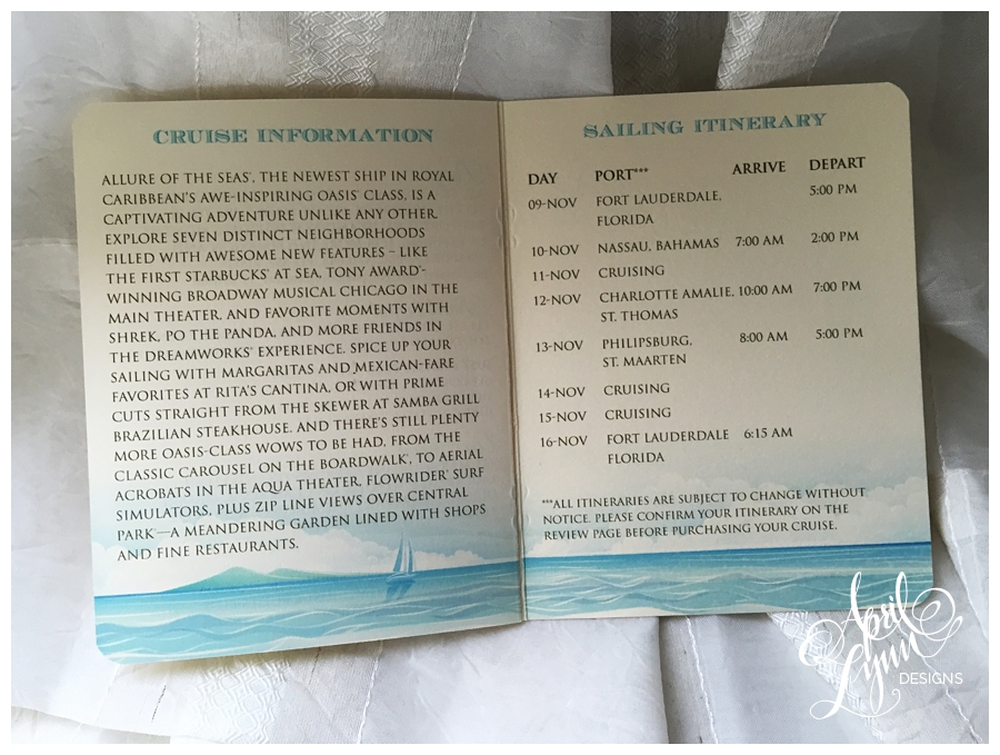 caribbean cruise passport wedding invitation by april lynn designs