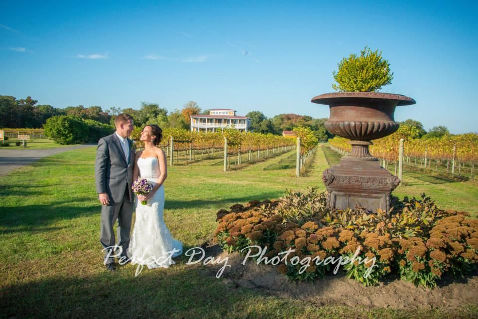 Rustic Willow Creek Winery Wedding Portrait