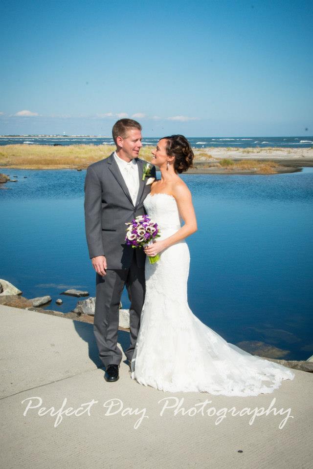 Rustic Beach Wedding Portrait