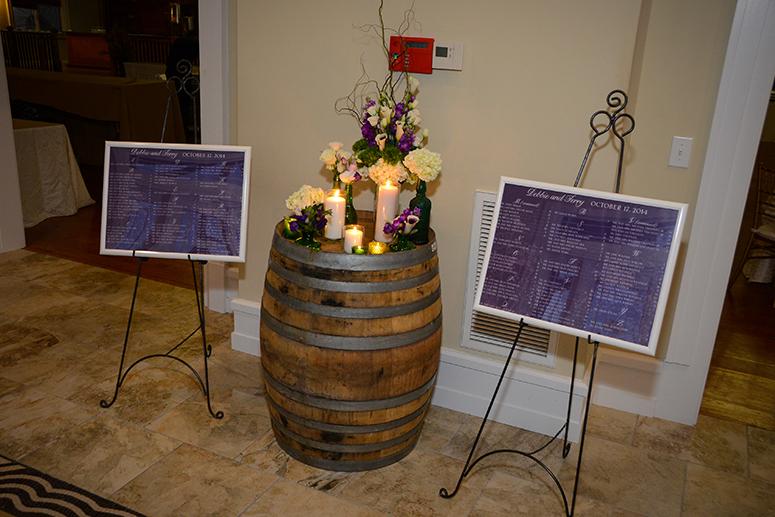 Dark Purple Rustic Winery Wedding Seatng Charts by April Lynn Designs