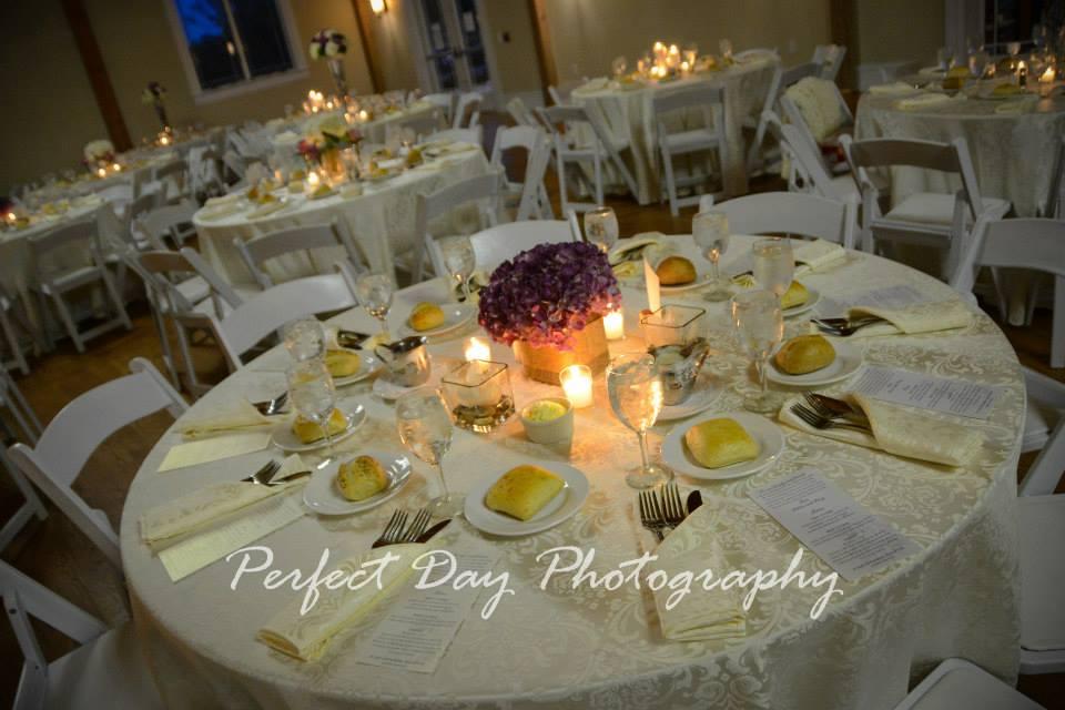Rustic Winery Wedding Table Settings