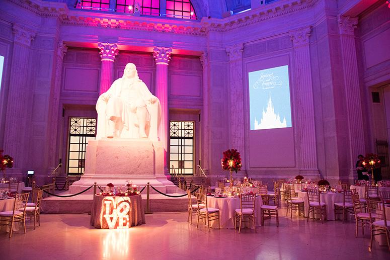 Disney-Themed Franklin Institute Wedding Reception