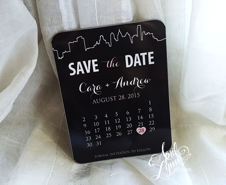 Philadelphia Save the Date Magnet by April Lynn Designs